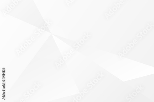 Fototapety, obrazy: Abstract geometric modern design white and gray gradient background, vector Illustration
