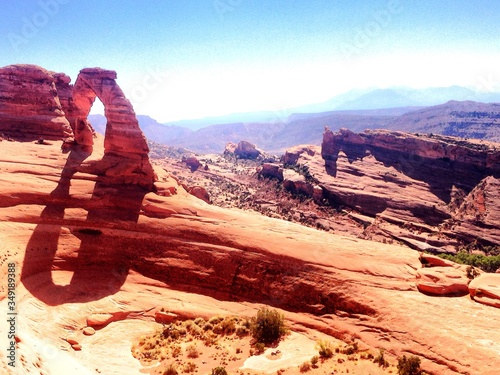 Fotografering View Of Arches National Park
