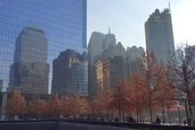People At September 11 Memorial In City