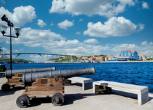 Old Cannons On Walkway In Cura...