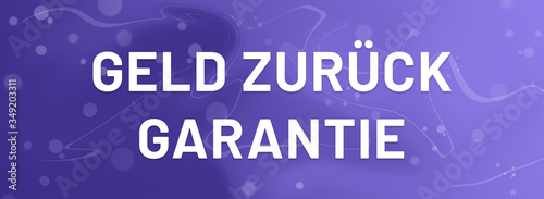 Geld zurück Garantie web Sticker Button Wallpaper Mural