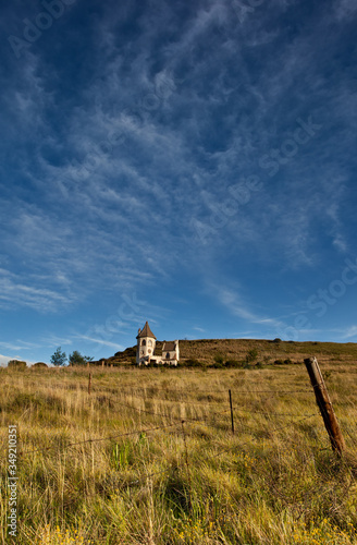 farmland landscape with wispy clouds outside Clarence, Free State, South Africa Canvas Print