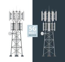 5G Mast Base Stations Set On W...