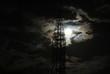 Leinwandbild Motiv Silhouette Tower Against Cloudy Sky