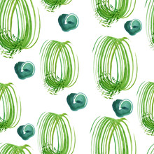 Seamless Pattern With Green Sp...