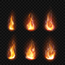Realistic Fire, Torch Flame Se...