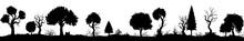 Decorative Trees In A Line/ Il...