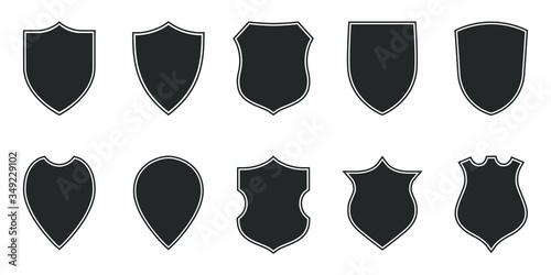 Photo Shields graphic icons set