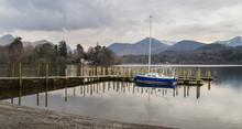 Sail Boat On Derwent Water