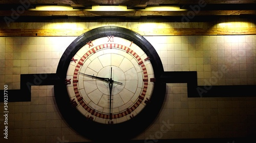 Fototapeta View Of Large Clock On Wall obraz