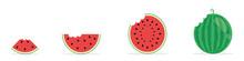 Set Of Fresh Watermelons. Bitt...