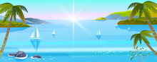 Vector Horizontal Seascape Wit...