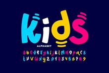 Kids Style Colorful Font Desig...