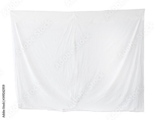 Canvas Print Bed sheet bedding blank canvas hanging isolated on white