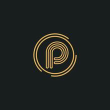 Premium Vector P Letter Logo.B...