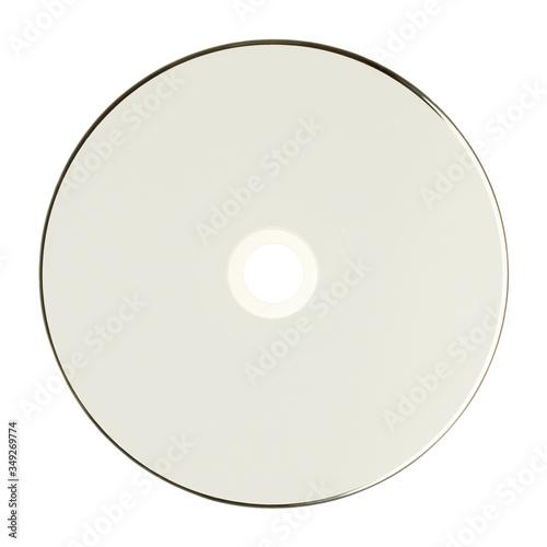 Obraz Płyta CD, DVD, BR przód, na białym tle. - fototapety do salonu