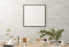 Square Blank Poster On White B...