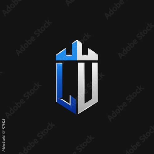 LU initials shield logo monogram designs modern templates. Fototapete