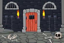 Dungeon Doors Cartoon Composit...