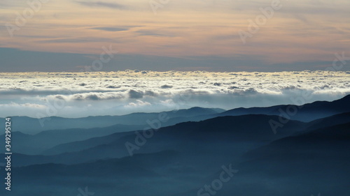 Sea of clouds from the Apennines Canvas Print