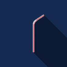 Straw Icon Flat Design Vector ...