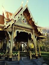 Old Ornate Gazebo In Park