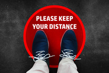 Maintain Social Distance Due To Coronavirus