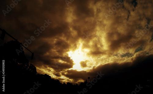 Obraz Cloudy Sky At Sunset - fototapety do salonu