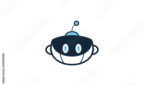 Photo a, android, tech, funny cartoon android, cartoon, icon, black, r, robot, blue, a