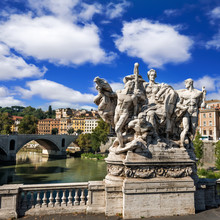 Sculptures On The Ponte Vittor...