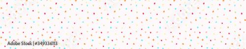 Valokuva Rainbow sprinkles confetti dotty border texture
