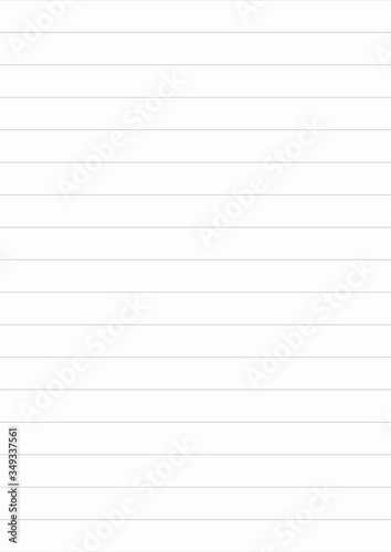 Obraz A4 lined format vector template vertical illustration made in proportional size. Editable strockes. Lines are not expanded. - fototapety do salonu