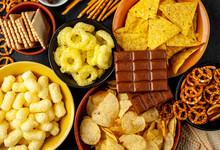 Unhealthy Food. Pretzels Diffe...