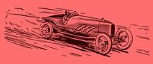 Vintage Racing Car Driving At ...