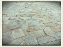 Paving Stone On Town Square