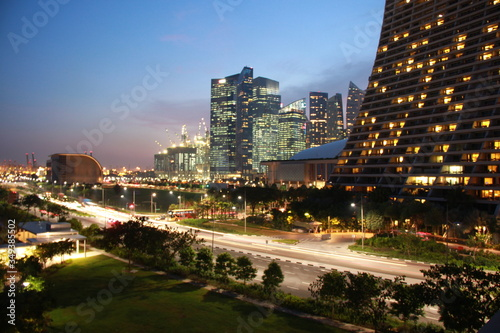 Twilight Cityscape around Singapore, Singapore is a That never Sleep City Canvas Print