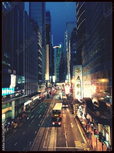 Fototapeta Modern City Life At Night obraz na płótnie