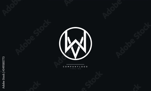 Photo WV VW W V Letter Logo Alphabet Design Icon Vector Symbol
