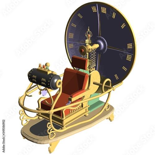 Obraz na płótnie Time Machine Vector