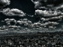City On Cloudy Day