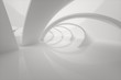 canvas print picture - Bright curve architectural structure, 3d rendering.