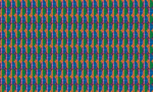 Large Seamless Geometric Oval Pattern In Bold Colors