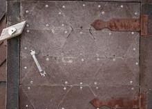 Old Door With False Hinges. Fl...