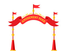 Amusement Park Entrance Flat. ...
