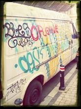 Graffiti On Van