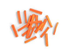Julienned Carrot Sticks Isolat...