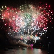 Firework Exploding At Plymouth Hoe