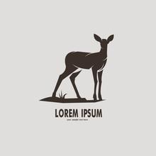 Deer Silhouette Logo Design Vector Illustration