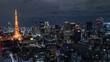 浜松町から見た東京タワー方面の夜景
