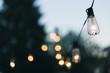 Leinwandbild Motiv Close-up Of Illuminated Light Bulb Against Sky